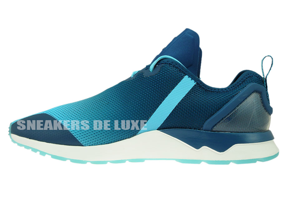 S79056 adidas ZX FLUX ADV ASYMMETRICAL BLUE GLOW   MINERAL   eBay edba39e5ea